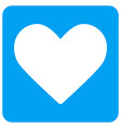 love heart rounded square icon vector image