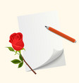 love letter for valentine s day vector image