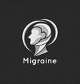 migraine logo icon concept vector image vector image