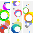 multicolored circles vector image