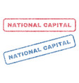 national capital textile stamps vector image vector image