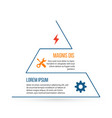 outline triangle infographic element linear flat vector image vector image