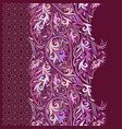 paisley - seamless colorful ethnic border vector image vector image