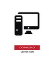 pc computer icon in modern style for web site and vector image vector image
