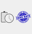 pixel battery charge time icon and distress vector image vector image
