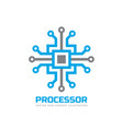 processor cpu - logo template for corporate vector image