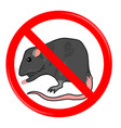 rat stop sign vector image