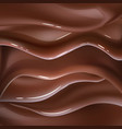 realistic chocolate liquid wave background vector image