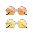 realistic eyeglasses retro circle hipster vector image vector image