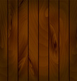 Realistic texture of wooden boards vector image vector image
