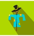 Scarecrow flat icon vector image