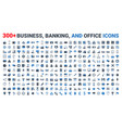 set business banking and finance icons vector image vector image