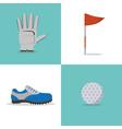 set of golf equipment vector image vector image