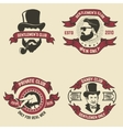 Set of mans club labels vector image vector image
