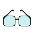 square frame glasses icon imag vector image vector image