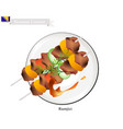 the famous food of bosnia and herzegovina vector image vector image