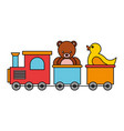 train bear rubber duck kid toys vector image