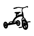 Tricycle vector image vector image