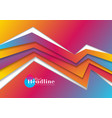 vibrant gradient abstract corporate geometric vector image vector image