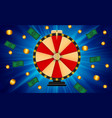 wheel of fortune lucky icon with place for text vector image