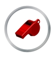 Whistle icon cartoon Single sport icon from the vector image vector image