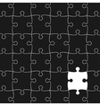 White Puzzle Pieces Background vector image vector image