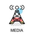 wireless sign icon for media design vector image