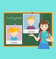 yearbook for school about schoolgirl vector image vector image