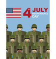 4th july American independence day Soldiers with vector image