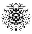 Abstract isolated mandala ornament vector image