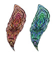 Doodle feather vector image