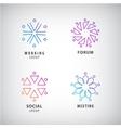 set of logos social relationship meeting vector image