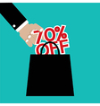 70 Percent Off vector image vector image