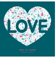 abstract colorful drops love text frame vector image vector image