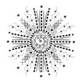 Abstract ornament in the form of the sun with rays vector image vector image