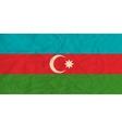 Azerbaijan paper flag vector image vector image