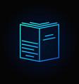 book blue concept symbol vector image vector image