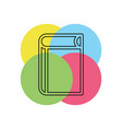 book icon education book isolated vector image