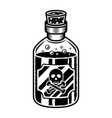 bottle poison object in vintage style vector image