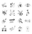 Business teamwork concept black icons set vector image