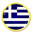 button with flag Greece vector image vector image