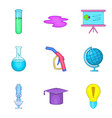 chemical icons set cartoon style vector image vector image