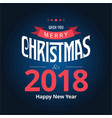christmas card with dark blue background vector image