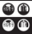 city in circle shape vector image