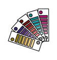 color palettes painted decoration design vector image vector image