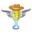 cowboy mimosa character cartoon style vector image vector image