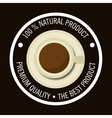 cup coffee product natural graphic vector image vector image
