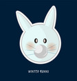cute birthday baby sticker with rabbit vector image vector image