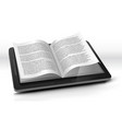 e-reader in tablet pc vector image vector image