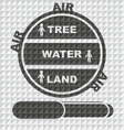 EARTH LAND WATER TREE AIR EPS10 vector image vector image
